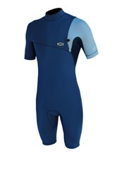 REEFLEX WETSUITS Moz Marino Zipperless 2/2mm Springsuit - Blue/ Silver - Summer 2017/18 Range