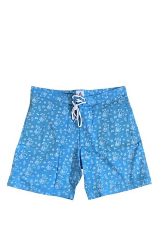 ZION WETSUITS Shred Stretch Boardshorts - Summer of Zion - Aqua