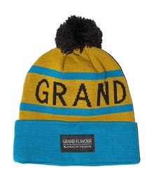 GRAND FLAVOUR Get Ahead Beanie - Marigold/ Turquoise
