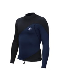 ZION WETSUITS Wesley 2mm Long Sleeve Vest - Navy/ Black - Summer 2016/17 Range