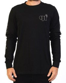 GRAND FLAVOUR Taste Sensation Long Sleeve T Shirt - Black