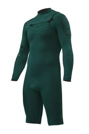 ZION WETSUITS Wesley 2/2mm Chest Zip L/S Springsuit - Forest Green - Summer 2015/16 Range