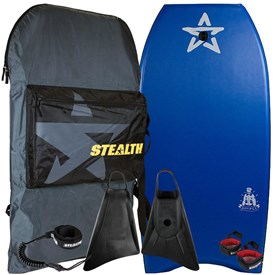 STEALTH BODYBOARDS Bomber 45'  EPS Core - 2016/17 Model - Package Deal
