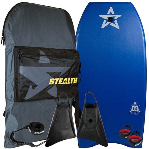 STEALTH BODYBOARDS Bomber 45'  EPS Core - 2017/18 Model - Package Deal