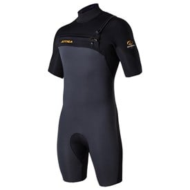 ATTICA WETSUITS OMEGA GBS 2/2mm SPRINGSUIT - Graphite/Black/Orange - 2016/17 Summer Range