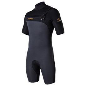 ATTICA WETSUITS OMEGA GBS 2/2mm SPRINGSUIT - Graphite/Black/Orange - 2017/18 Summer Range