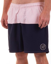 GRAND FLAVOUR Fresh Air Board Shorts - Navy/ Pink