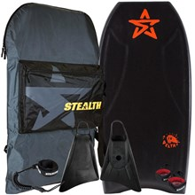 STEALTH BODYBOARDS Delta PE Core - 2017/18 Model - Package Deal - Assorted Colours