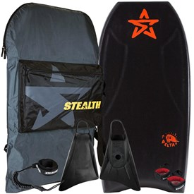 STEALTH BODYBOARDS Delta PE Core - 2016/17 Model - Package Deal - Assorted Colours