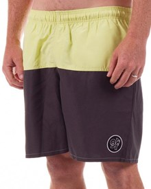 GRAND FLAVOUR Fresh Air Board Shorts - Yellow/ Grey