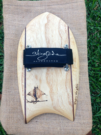 STING GLIDE Wooden Handboards - Moon Tail with Stringers