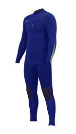 ZION WETSUITS Wesley 3/2mm GBS Chest Zip Steamer - Royal Blue / Silver - Winter 2017 Range