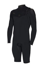ZION WETSUITS Wesley 2/2mm Chest Zip L/S Springsuit - Black - 2nd Winter 2015 Range