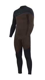 ZION WETSUITS Cortez 4/3mm Liquid S-Sealed Zipperless Steamer - Black/ Earth - Winter 2017 Range