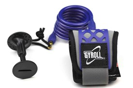 GYROLL Wrist Leash - Blue Coil / Cuff