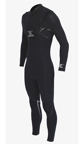 REEFLEX WETSUITS MERCURY 3/2mm Dawn CHEST ZIP STEAMER - Black