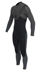 REEFLEX WETSUITS MERCURY 4/3mm Shadow Fever CHEST ZIP STEAMER - Steel/Black