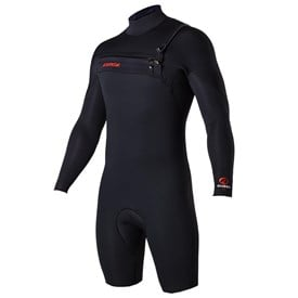 ATTICA Wetsuits - Omega GBS 2/2mm Long Sleeve Springsuit - Black/Red - 2017 Winter