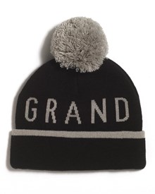 GRAND FLAVOUR Striptease Beanie - Black/ Grey