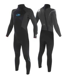 Tiki Wetsuit Tech 20 - 3/2mm GBS Steamer - Grey/ Blue