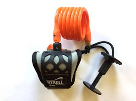 GYROLL Wrist Leash - Orange Coil / Black Cuff