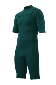 ZION WETSUITS Wesley 2/2mm Chest Zip Springsuit - Forest Green - Summer 2015/16 Range