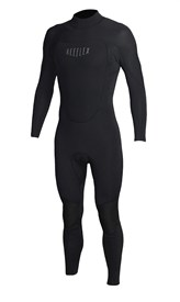 REEFLEX WETSUITS 3/2mm Bazza Back Zip Steamer - Black - Winter 2017 Range