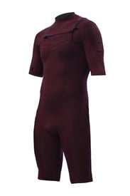 ZION WETSUITS Wesley 2/2mm Chest Zip Springsuit - Burgundy - Summer 2015/16 Range