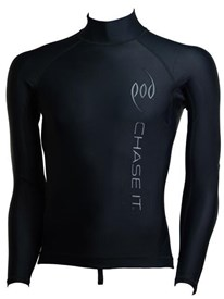 POD Premium Rash Guard - Black with Black Print