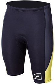 ATTICA WETSUITS EQUATOR 2mm WETSUIT SHORTS - Black/ Graphite/ Yellow