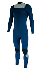 REEFLEX WETSUITS Moz Cypress 3/2mm Chest Zip Sealed GBS Steamer - Navy/ White - Winter 2018 Range