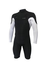 ZION WETSUITS Vault 2/2mm Chest Zip L/S Springsuit - Black/ White - Summer 2017/18 Range