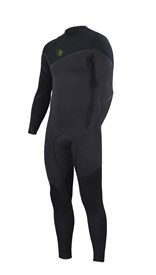 ZION WETSUITS Cortez 3/2mm Liquid S-Sealed Zipperless Steamer - Graphite/ Black - Winter 2016 Range