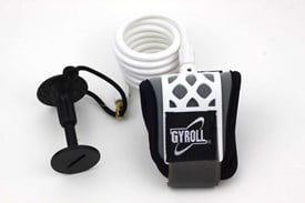 GYROLL Wrist Leash - White Coil / Cuff