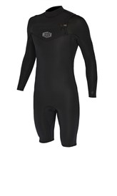 REEFLEX WETSUITS Rambo Series Chest Zip 2/2mm Long Sleeve Springsuit - Black - Winter 2017 Range