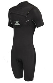 REEFLEX WETSUITS 2/2mm MERCURY CHEST ZIP SPRINGSUIT - Short Black