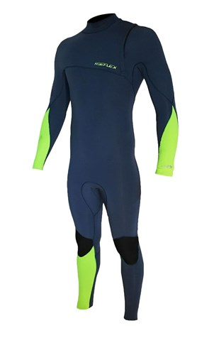 REEFLEX WETSUITS Gen X 3/2mm GBS Zipperless Steamer - Cascade & Flouro Green - 2016/17 Summer Range