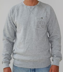 GRAND FLAVOUR Crest Crew Neck Jumper