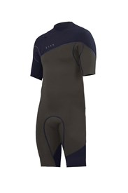 ZION WETSUITS Cortez 2/2mm Zipperless Sealed Springsuit - Biege/ Navy - Summer 2017/18 Range