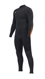 ZION WETSUITS Wesley 3/2mm GBS Chest Zip Steamer - Graphite / Sunkist - Winter 2017 Range