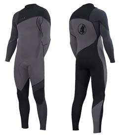 ZION WETSUITS Cortez 4/3mm Liquid S-Sealed Zipperless Steamer - Silver/ Black/ Graphite - 2nd Winter 2017 Range