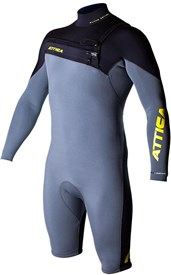 ATTICA WETSUITS ALPHA GBS 2/2mm Long Sleeve SPRINGSUIT - Ash/ Black/ Yellow - 2016 Winter Range