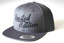 LIMITED EDITION Logo Snap Back Hat - Grey/ Black Logo