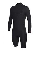 REEFLEX WETSUITS Black Sheep Zipperless 2/2mm Long Sleeve Springsuit - Black - Summer 2016/17 Range