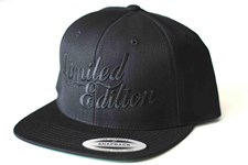 LIMITED EDITION Logo Snap Back Hat - Black/ Black Logo