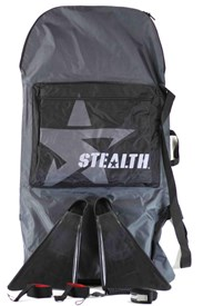 Stealth Boardbag/ Fins/ Leash/ Fin Savers Package Deal