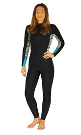 REEFLEX WETSUITS LAVA Ladies 4/3mm Zipperless Steamer - Black/ White Print - Winter 2017 Range
