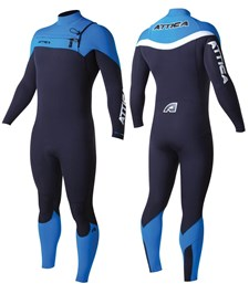ATTICA WETSUITS ALPHA INFERNO GBS 3/2mm STEAMER BLACK/ BLUE/ WHITE - 2014 Winter