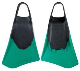 STEALTH S4 FINS - Black/ Emerald Green