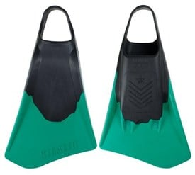 STEALTH S4 FINS - Black / Emerald Green